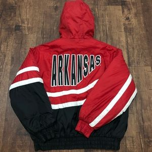 Vintage Jerzees Arkansas Razorbacks Puffer Jacket